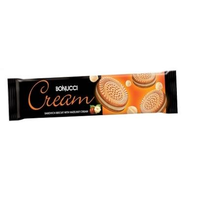 Bonucci Cream 75G Mogyoró Ízű Krémmel Töltött Keksz