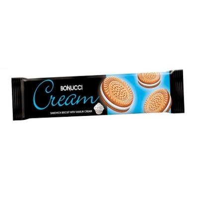 Bonucci Cream 75G Vanília Ízű Krémmel Töltött Keksz