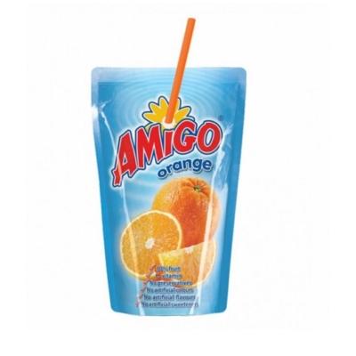 Amigó 200ML Szívószálas Narancs (6430)
