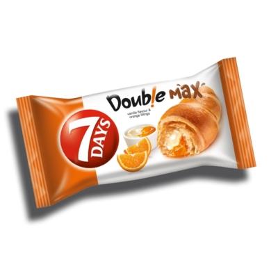 7 Days Double vanília-narancs ízű töltelékkel töltött croissant 80G