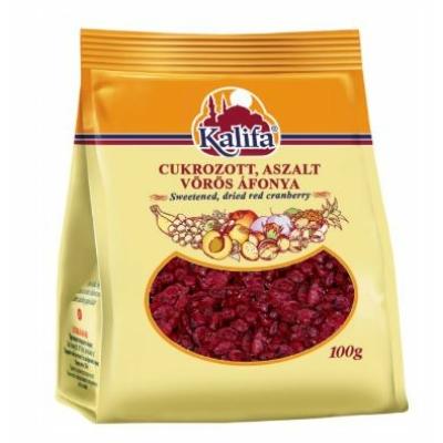 Kalifa cukrozott, aszalt vörös áfonya 100 g