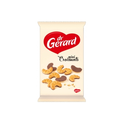 Dr. Gerard croissant alakú kakaóba mártott ropogós keksz 165 g,
