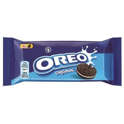 Oreo vanília ízű töltelékkel töltött kakaós keksz 44 g