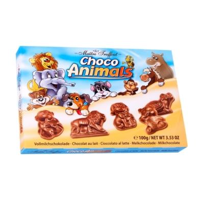 Maitre T. 100G Choco-Animals tejcsokoládé állatfigurák 100G