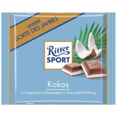Ritter Sport kókusz-tejkrémmel töltött tejcsokoládé 100G