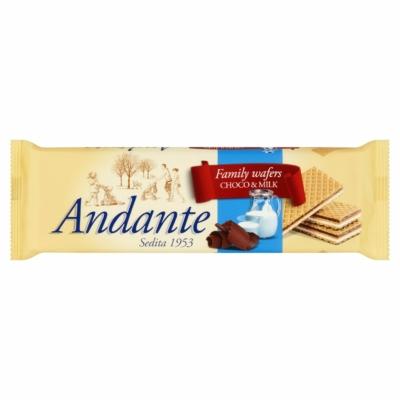 Andante tejes-csokoládés ízű krémmel töltött ostyák 130G