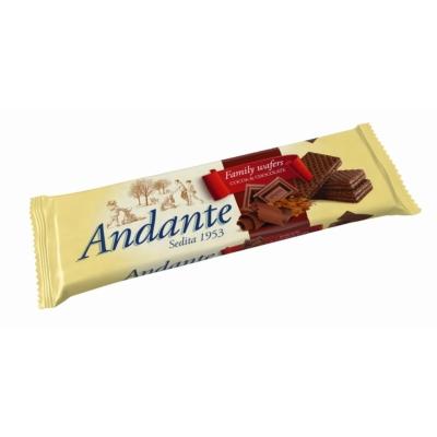 Andante Kakaós-csokoládés ízű krémmel töltött ostyák 130G