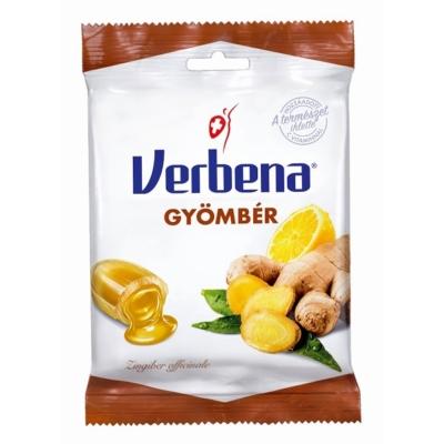 Verbena gyömbér ízű töltelékkel töltött cukorka 60G