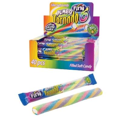 Fini Jumbo Tornado Fizzy színes gumicukor rúd 40*50G