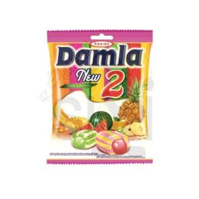Damla trópusi gyümölcs ízű töltött puhakaramella mix 1KG