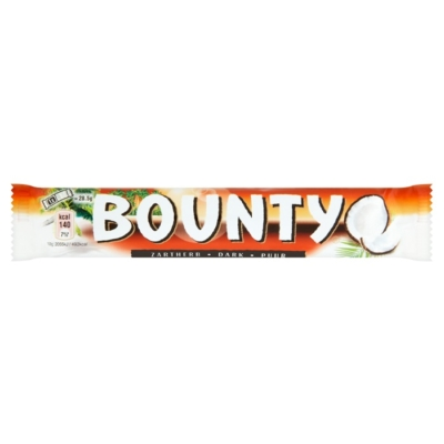 Bounty kókuszos szeletek étcsokoládéba mártva 57G