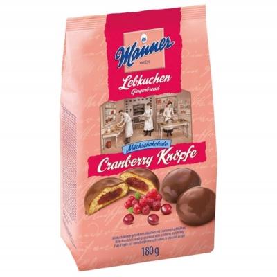 Manner Knöpfe 180G Vörösáfonya Krém Tejcsokoládéval Bevont