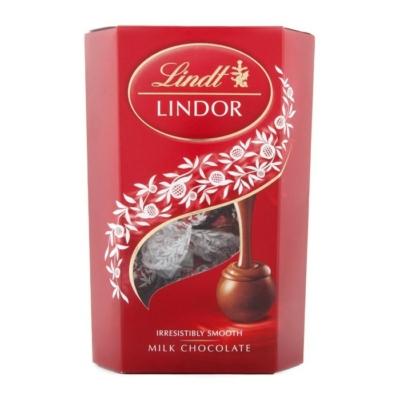 Lindt Lindor lágyan olvadó tejcsoki töltelékkel töltött tejcsokoládé pralinék 200G
