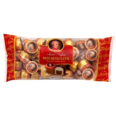 Maitre T. Mozartkugeln pisztácia,marcipán,mogyoró krémmel töltött tejcsokoládé praliné 800G