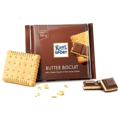 Ritter Sport Knusper vajas keksszel töltött tejcsokoládé 100G