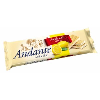 Andante citrom ízű krémmel töltött ostyák 130G