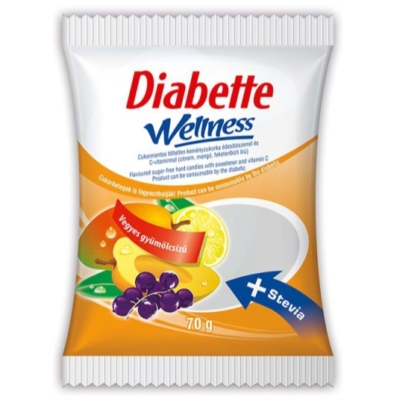 Diabette Wellness 70G Vegyes Gyümölcs Cukor