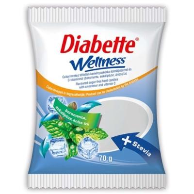 Diabette Wellness 70G Mentolos Cukor