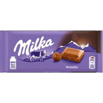 Milka Noisette mogyorómasszával töltött alpesi tejcsokoládé 100G