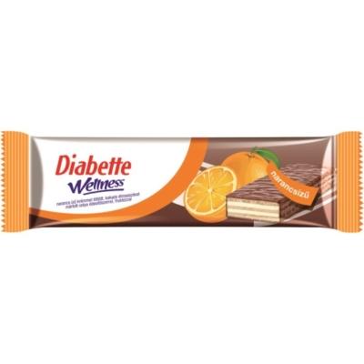 Diabette Wellness Szelet Narancs Ízű 26G Fruktózzal