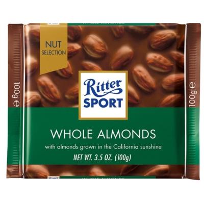 Ritter Sport egészmogyoróval töltött tejcsokoládé 100G