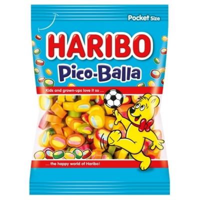 Haribo Pico Balla gyümölcs ízű focilabda alakú gumicukor 85G