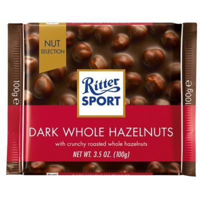 Ritter Sport egészmogyoróval töltött étcsokoládé 100G