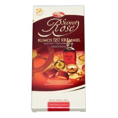 Microse Dia Rose rumos krémmel töltött tejcsokoládé 100G Diabetikus