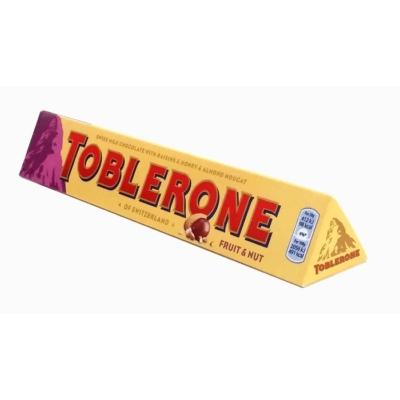 Toblerone mazsolás és mogyorós tejcsokoládé 100G