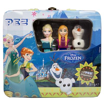 Pez 51G Fém Koffer Frozen +6 Csomag Pez Cukorka