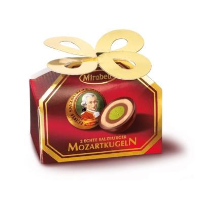 Mozart Mirabell mogyorókrém és marcipán töltelékkel töltött étcsokoládé 34G